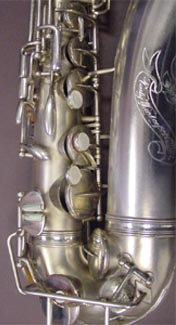 Rudy Wiedoeft silver plated alto.