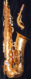 Super 20 (series I) gold-plated alto.  Thanks to www.saxquest.com.