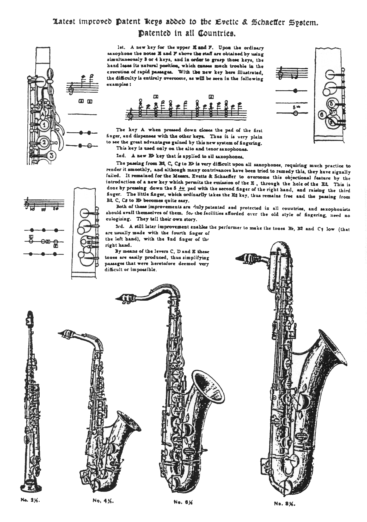 Anyone got the fingering chart for De Villes Universal Method – Saxophone Fingering Chart